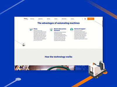 Brain Corp Website Design isometric design design website design ux ui