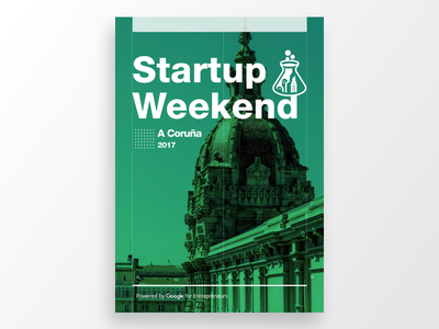 Poster for an Upcoming SW identity coruña weekend startup