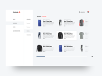 Reebok shop concept - Categories