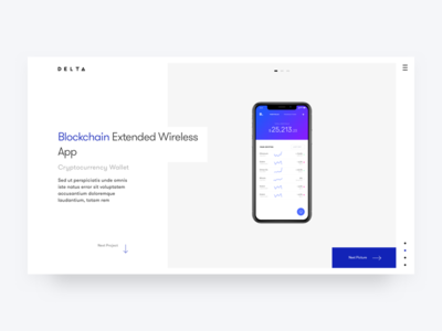 Project review portfolio concept gallery blockchain iphone 10 single project
