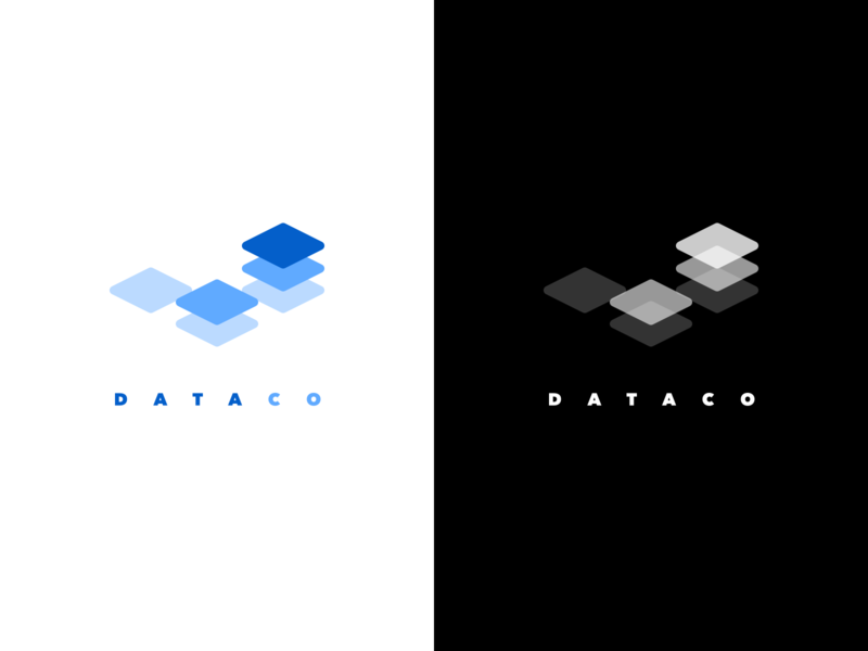 Logo concept for fintech App fintech graphic logo 3d stock exchange portfolio concept illustrator sketch branding value app blue white black corporative data management data logo