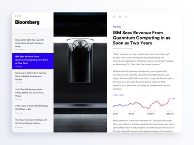 Bloomberg News Desktop App ui stocks post news ibm deskto charts bloomberg blog concept article app