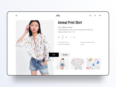 Online fashion concept minimal ux ui clothes ecommerce zara fashion shop