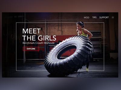 Meet The Girls crossfitgirl wod banner crossfit promo