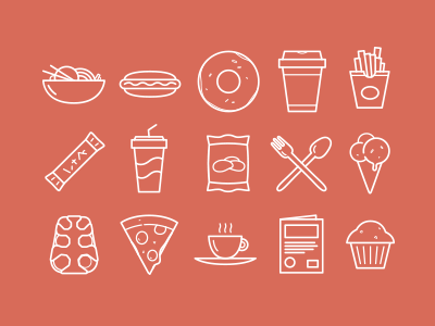 Iconography icons iconography food drink illustration meal eating