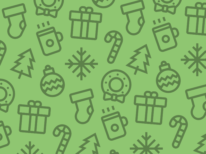 Holiday Icons (Free) pattern green free download icons iconset line holiday christmas resource designer fuel vector
