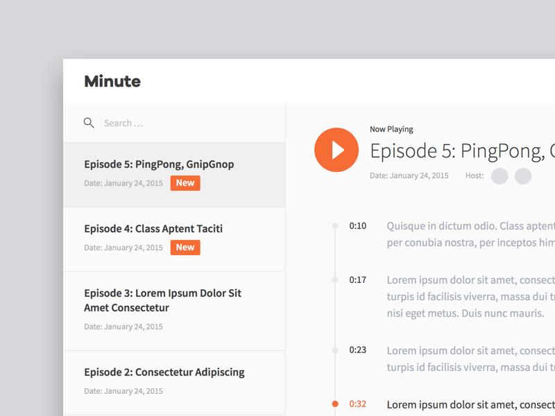 Myplanet Minute play timeline transcript audio player myplanet episode show talk radio minute
