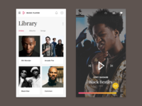 Library & Now Playing - Music App