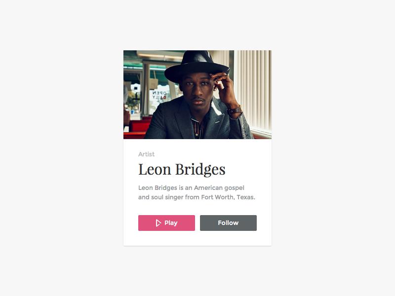 Profile card   light