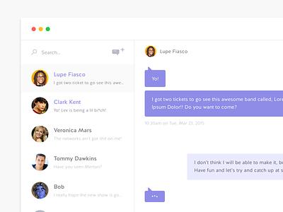 Desktop Chat App conversation message ui flat messaging mac app chat desktop