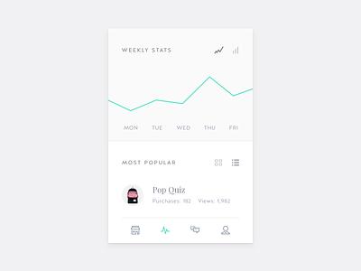 Stats (UI Example) user interface view card widget app line chart graph ui stats