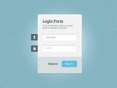 Login Form (Free Resource) - PSD, HTML, CSS3, jQuery free resource login form css3 jquery html psd download designer fuel