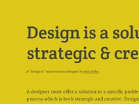 """Design is ..."" thesis"