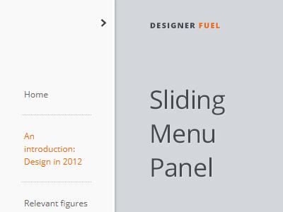 Sliding menu panel free resource html5css3jquery by amit menu panel dribbble ccuart Gallery