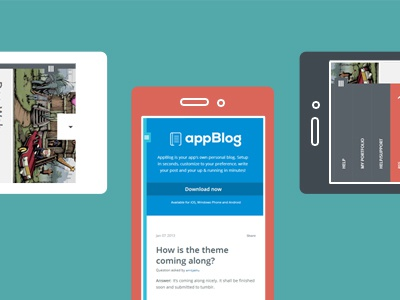 Appblog customization mobile