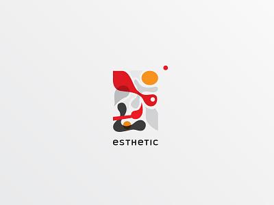 Esthetic Logo. Option 2 brushwork aesthetic letter e canvas art gallery painting paint brush symbol logo
