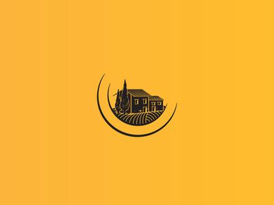 La Granja Gourmet Logo rancho illustration granja spain spanish food gourmet farm logotype icon symbol logo