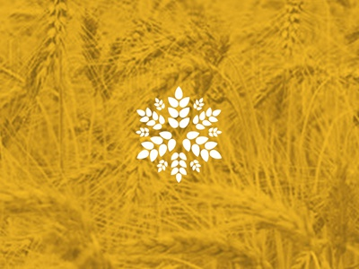 fbr Visual System - Agricultural Branch Icon bloom yellow grow agriculture cereal grain concept design logotype icon symbol logo
