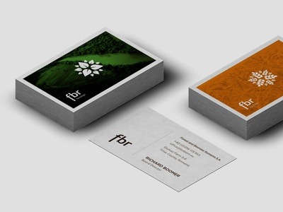 fbr Business Cards print visual identity identity business cards concept aesthetic design logotype icon logo