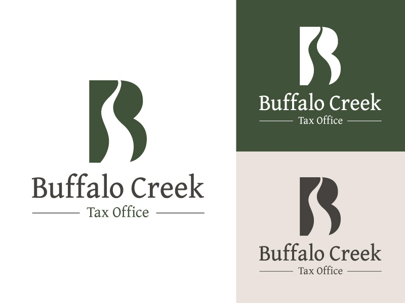 Buffalo Creek branding logo design logo office tax creek buffalo
