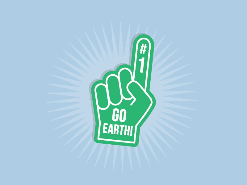 Earth Day 2016! team sports foam finger globe world recycle savetheearth planet earthday day earth