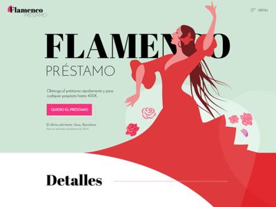 Flamenco loans website design