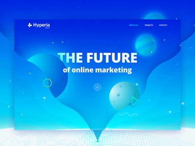 The future - Landing page concept gradient color online marketing future planets space ui webdesign gradient concept design landing page
