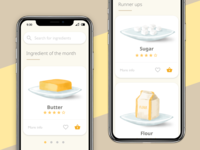 Food app illustrations