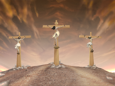 Jesus crucifixion composition christ jesus christ cross concept art character art illustration crucifixion jesus easter