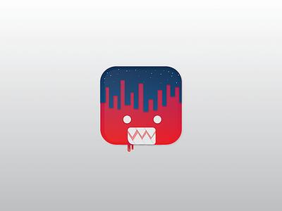 Big boys play at night app illustrated icon