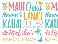 Hawaiian Island Text Design