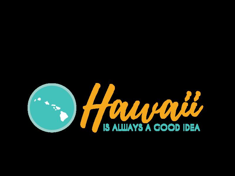 Hawaiiis Always a Good Idea design tropical hawaii aloha coastal beach