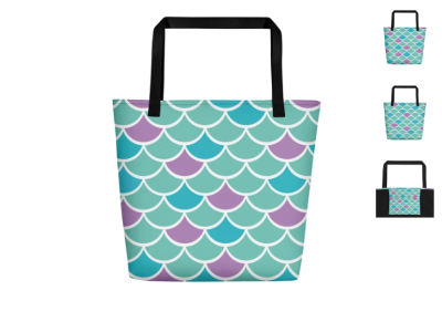 Mermaid Scales - All-Over Print Beach Bag