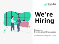 Business Development Manager - Crazydes Hiring