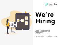 Crazydes, hiring user experience designers