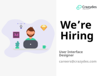 Crazydes, hiring user interface designers