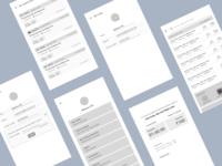 Wireframes for parking app