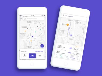 Parking application - Visual Designs