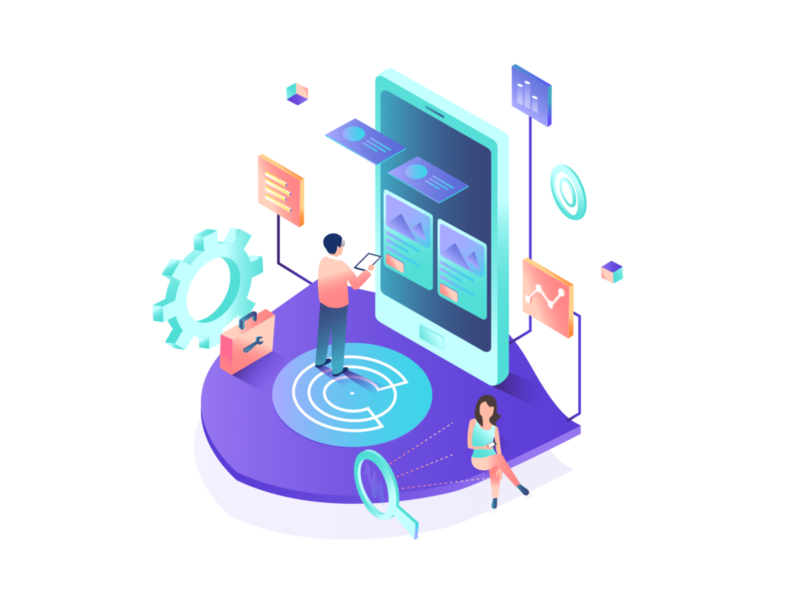 Isometric Illustration for global product