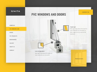 Unita website design uxdesign ux ui  ux ui clean simple modern awesome yellow windows design website
