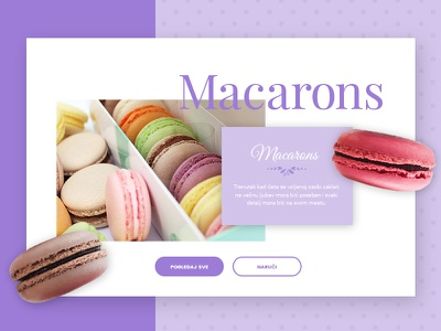 Buiongiorno Website Design ui sweet macarons awesome modern design website