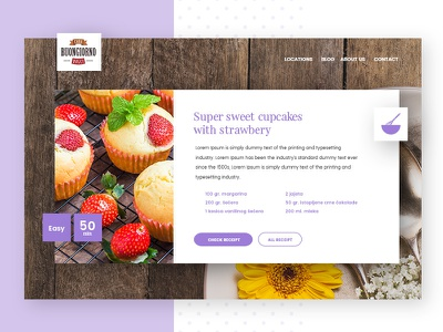Buiongiorno Website Design Receipt red purple strawberry muffin cookies sweet food receipt awesome modern ui design website