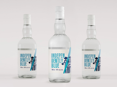 Independently Blue Rakia Design musician alternative awesome branding logo design label blue