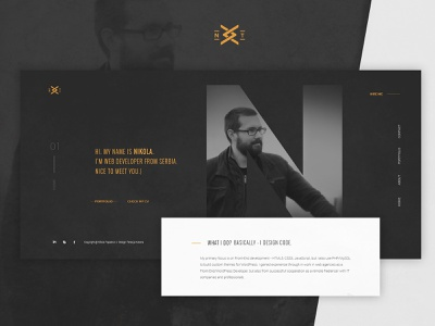 Frontend Developer Website Design mike code uiux ui web portfolio ux dailyui modern simple nikola dark gray developer frontend design website