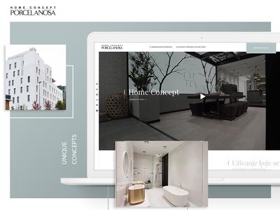 Porcelanosa Website redesign