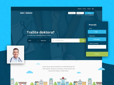 Halo Doktore Website Design web modern design ux ui  ux ui filter search illustration doctor city green blue branding design website branding
