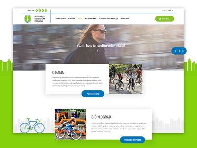 NSBI Website Redesign city modern registration form blog web simple flat vegait iniciative bycicle redesign design website