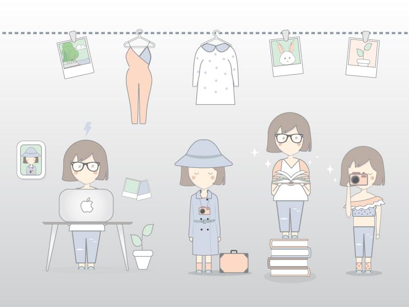 Hobbies bookworm design mac travel fashion photography