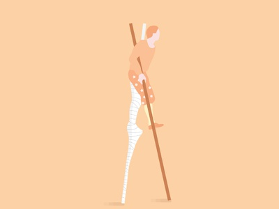 Stilts  legs stilts circus performer character illustration