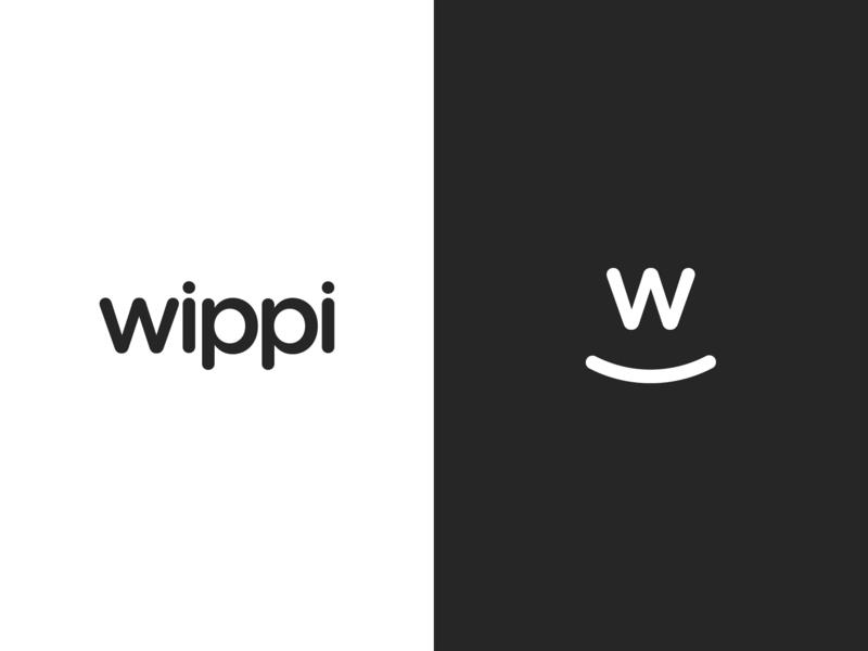 Wippi | App Visual Identity logo design branding